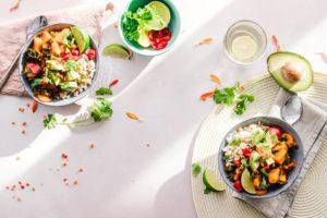 veggie salad bowls