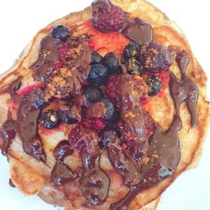 choc orange sauce pancakes
